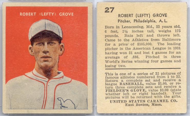 Lefty Grove Baseball Card Checklist